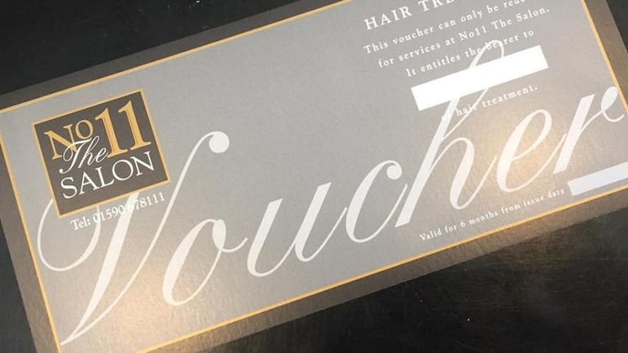 No11 The Salon gift voucher