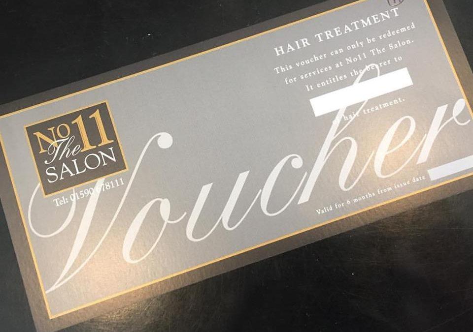 No11 The Salon gift voucher