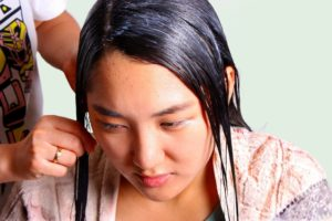 Hair treatment to restore moisture