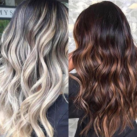 balayage and ombre hair colour